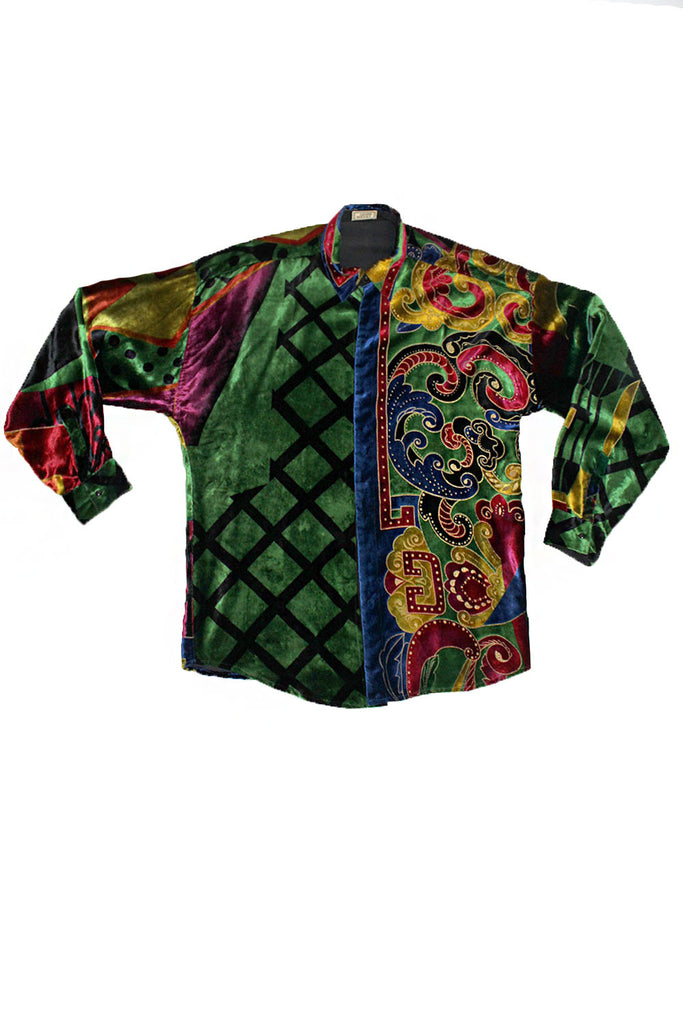 b842e96ede Vintage 90's Gianni Versace Velvet Silk Shirt – Afterlife Boutique