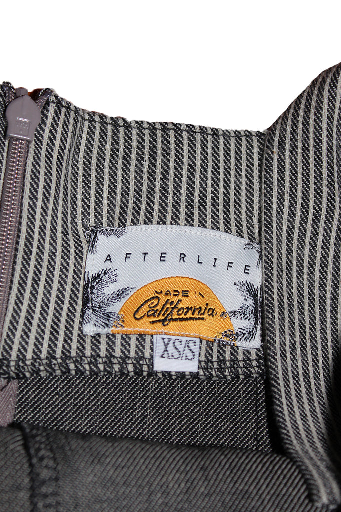 ALC Engineer Stripe Denim Jumpsuit