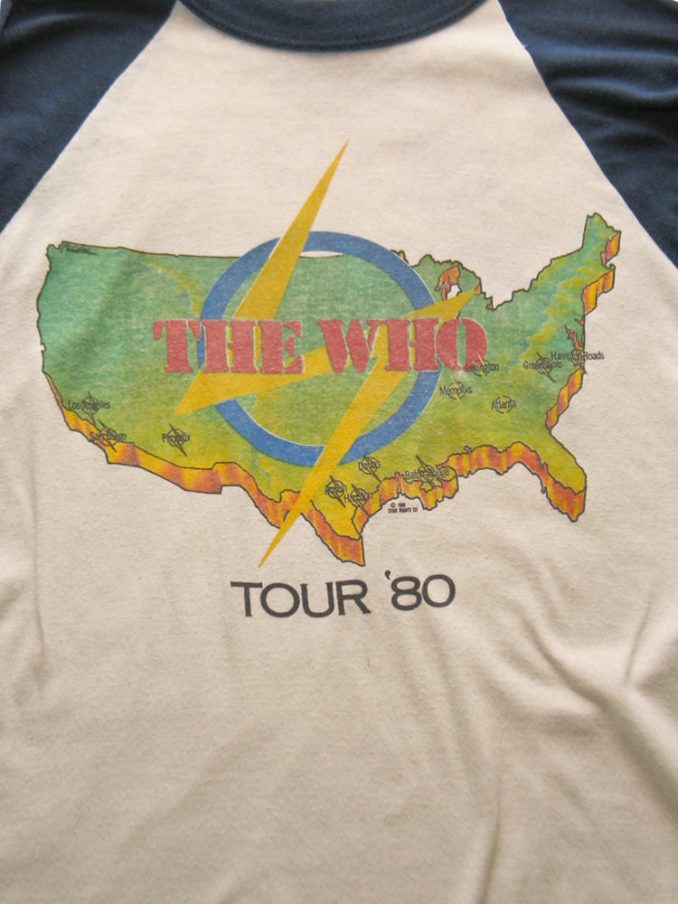 The WHO US Tour Vintage T-Shirt 1980