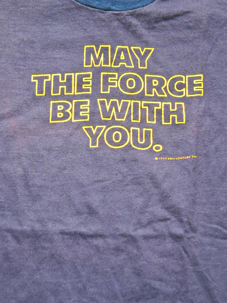 Star Wars May The Force Be With You Vintage T-Shirt 1979 SOLD