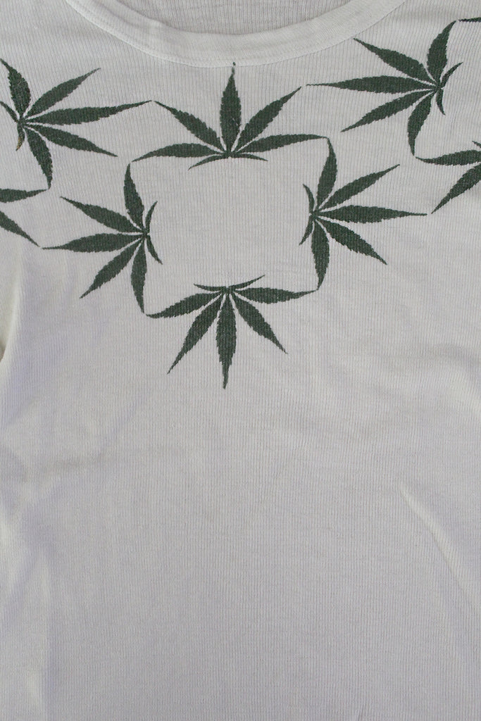 Vintage 60's Weed Cannabis Print Long Sleeve T-Shirt