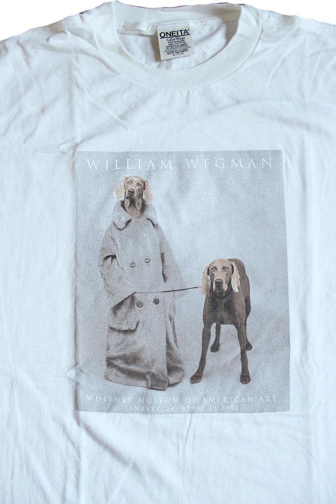 Vintage Deadstock 90's William Wegman Trench Coat Dogs T-Shirt