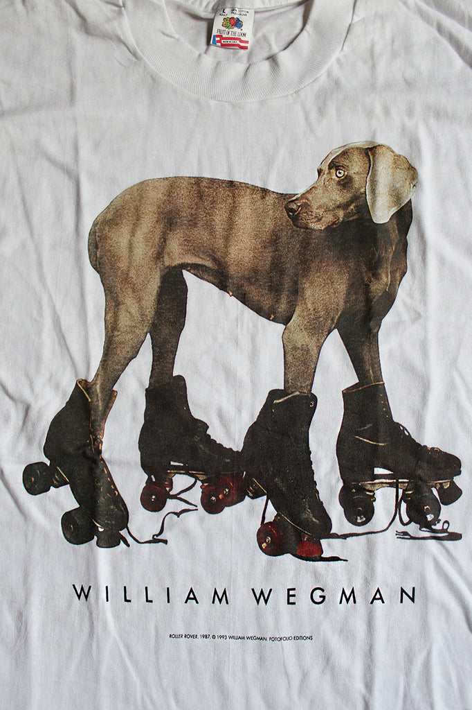 Vintage 90's Deadstock William Wegman Roller Rover T-Shirt