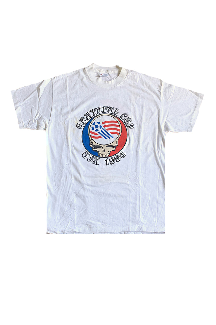 Vintage Deadstock 90's Grateful Cup Soccer T-Shirt