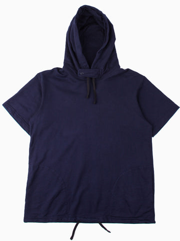 Short Sleeve Hoody Dk. Navy French Terry