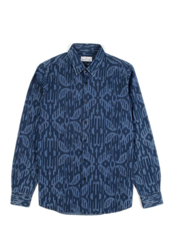Hentsch Man - Friday Shirt Moire Chambray