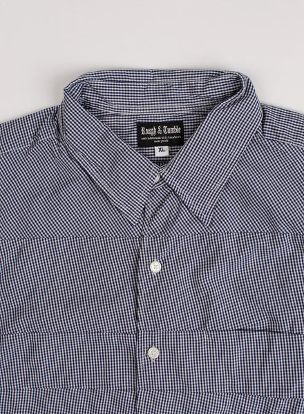 Rough & Tumble - Jerry Shirt White/Navy Gingham (XL)