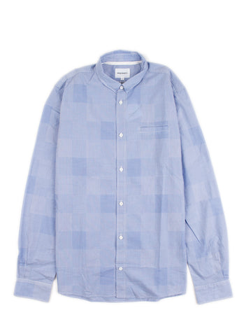 Norse Projects - Kenneth Shirt Blue Gingham (L)