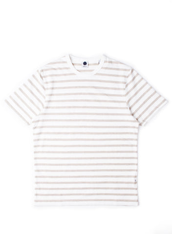 Basic Stripe Tee Khaki