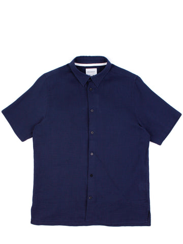 Theo Hemp Seersucker Navy