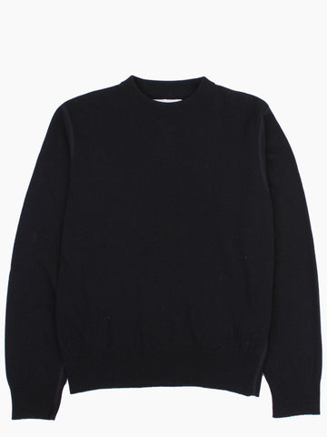 Base Roundneck Black Merino
