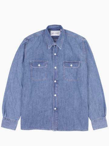 Country Shirt Vintage Blue Denim