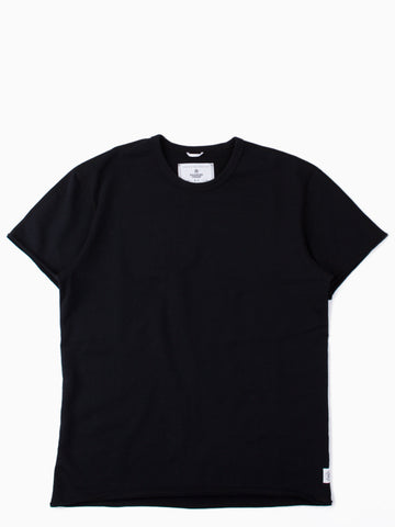 Lightweight Raw Edge SS Crewneck Black