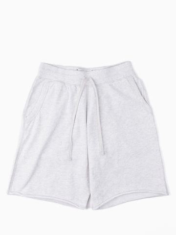 Lightweight Terry Raw Edge Sweatshort Heather Ash