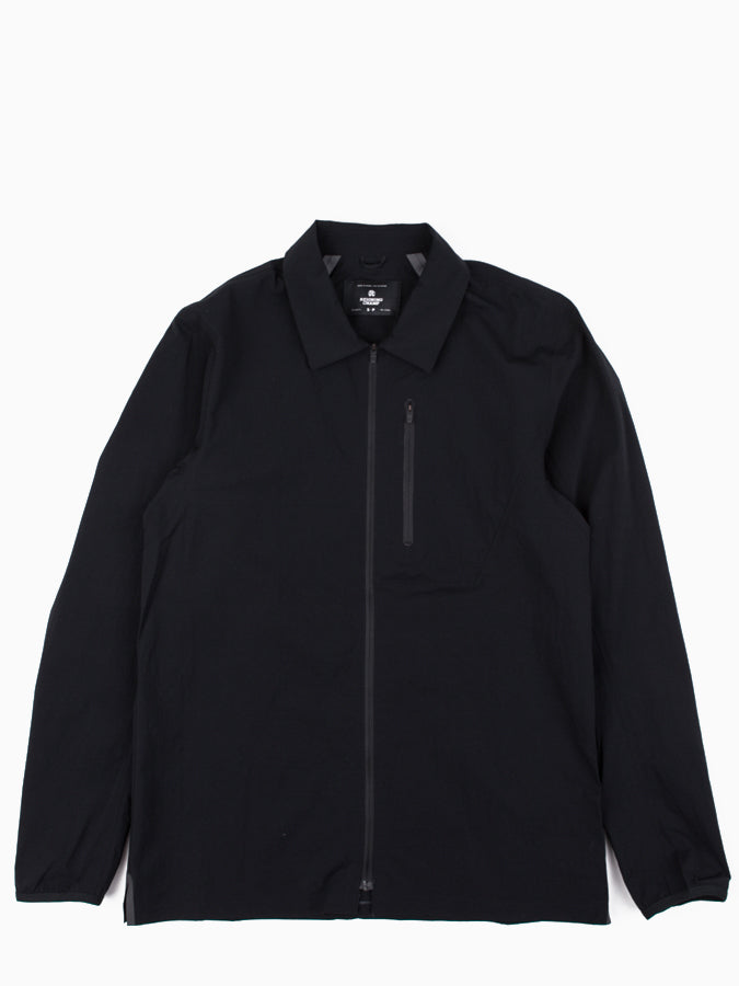 Woven Stretch Nylon N279 Wind Shirt Black