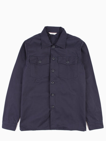 Fatigue Overshirt Navy Herringbone