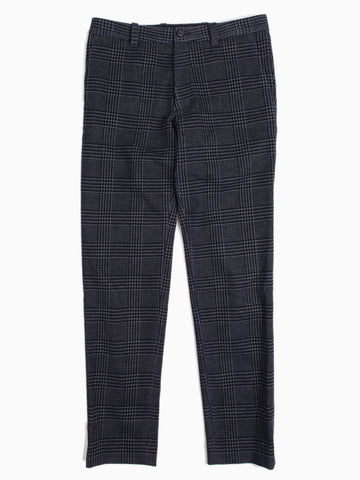 Knitted Flocking Glen Check Wool Jersey Trousers