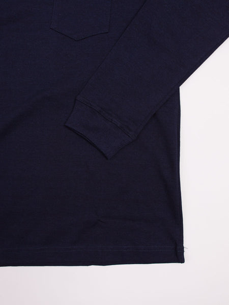 Long Sleeve Pocket T-Shirt Indigo