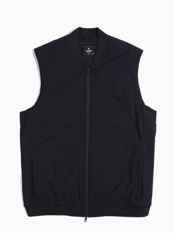 Insulated Stretch Nylon Vest Black