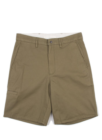 Laurits Herringbone Cargo Shorts Dried Olive