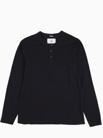 Knit Cotton Jersey Long Sleeve Henley