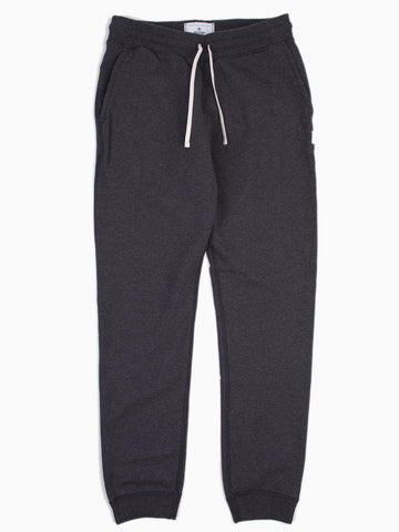 Knit Midweight Terry Slim Sweatpant Charcoal