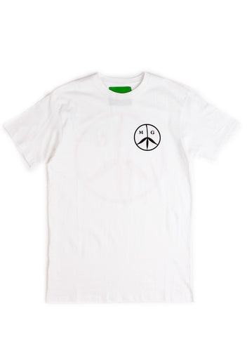 Peace Tee White/Rose