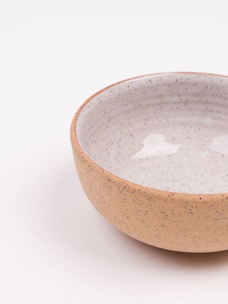 "6"" Bowl White Speckle"