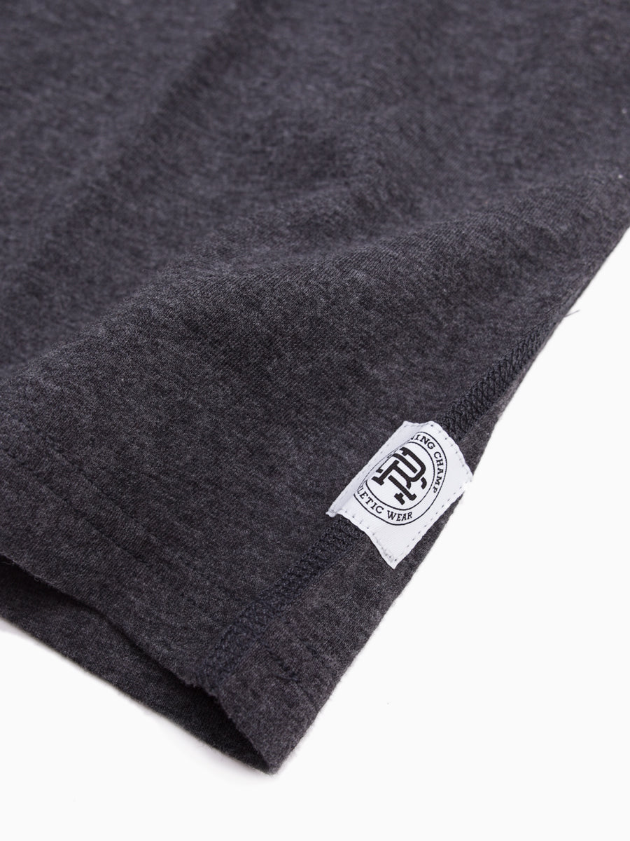 Cotton Jersey SS Crew Neck Heather Charcoal