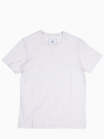 Cotton Jersey SS Crew Neck Heather Ash