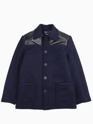 Wool Melton Donkey Jacket Navy