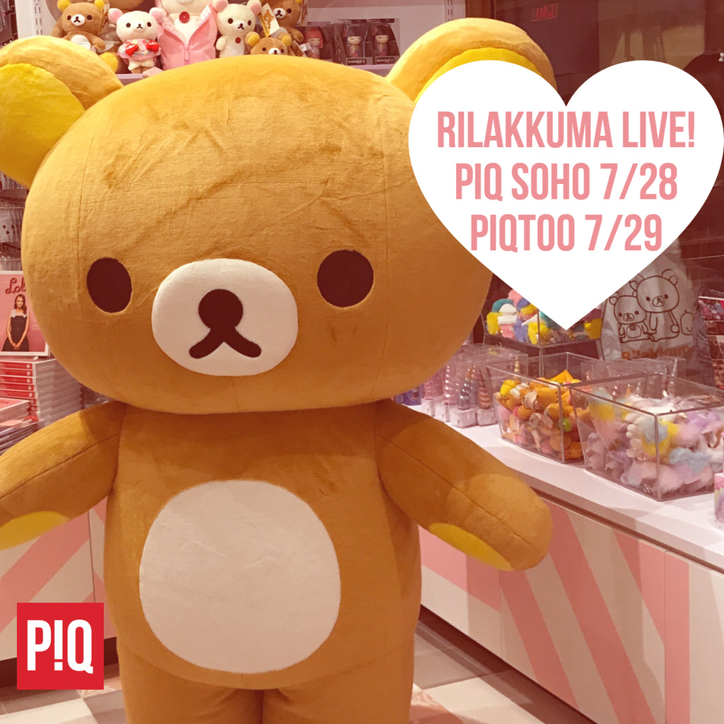 Rilakkuma Weekend at PIQ SoHo and PIQtoo Rockefeller Center