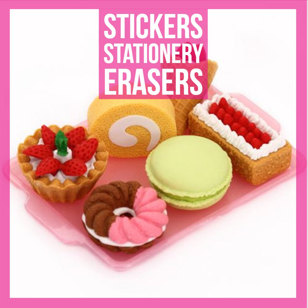 Stickers, Stationery, Erasers