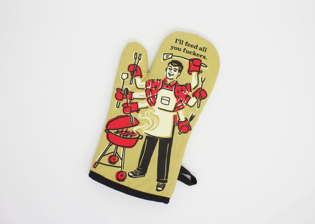 PIQ gifts store new york city nyc father's day oven mitt funny