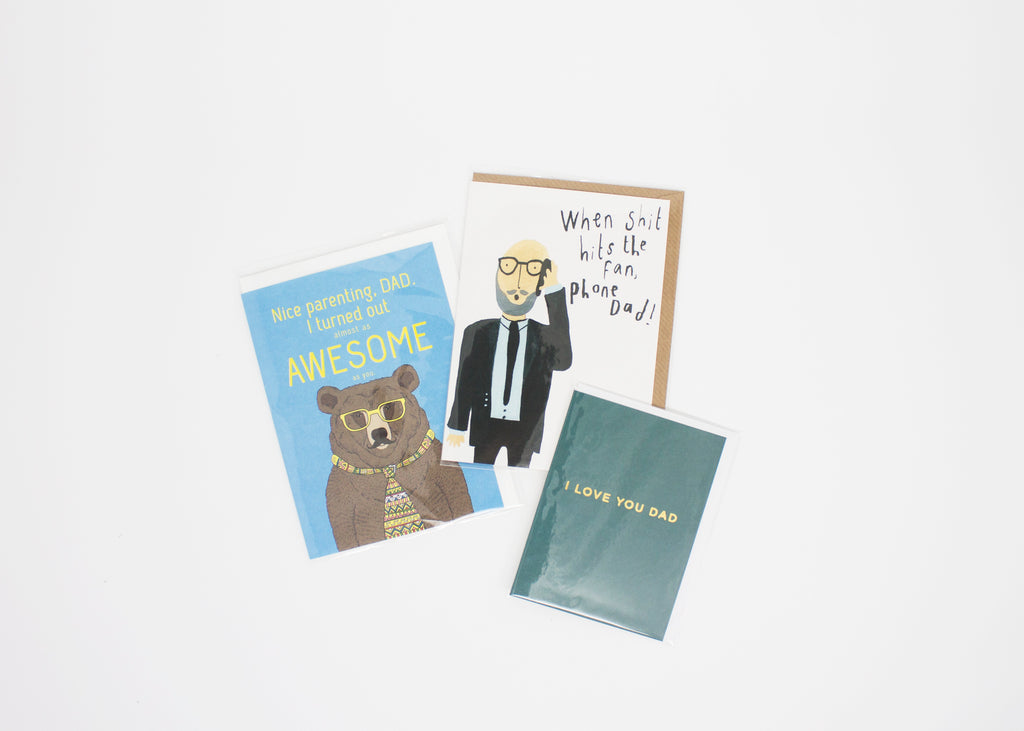 PIQ gifts store new york nyc father's day present funny postcards dad
