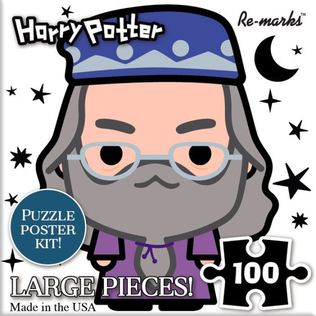 Harry Potter Chibi Dumbledore 100 Piece Puzzle Cube