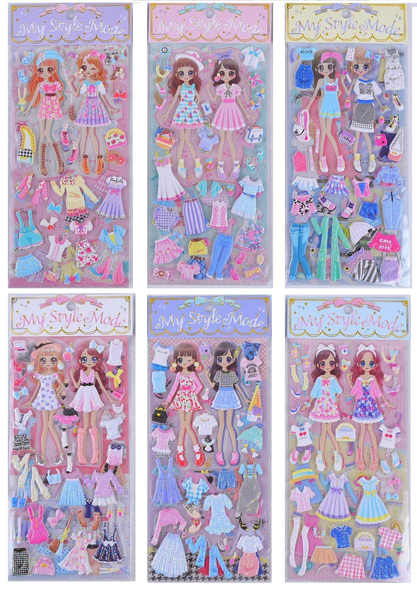 Stickers - Dress Up Double Glitter