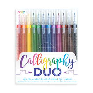 Calligraphy Duo Chisel & Brush Tip Markers by Ooly - PIQ