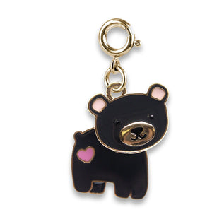 Charm It - Gold Swivel Bear Charm - PIQ