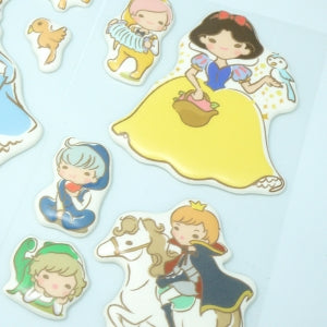 Funny Sticker World - Puffy Large Snow White Stickers