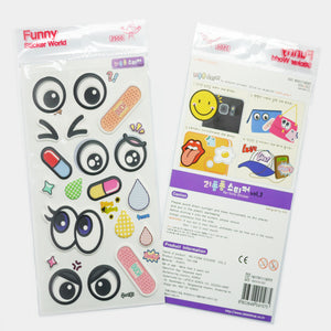 Funny Sticker World - Puffy large Eyes Stickers