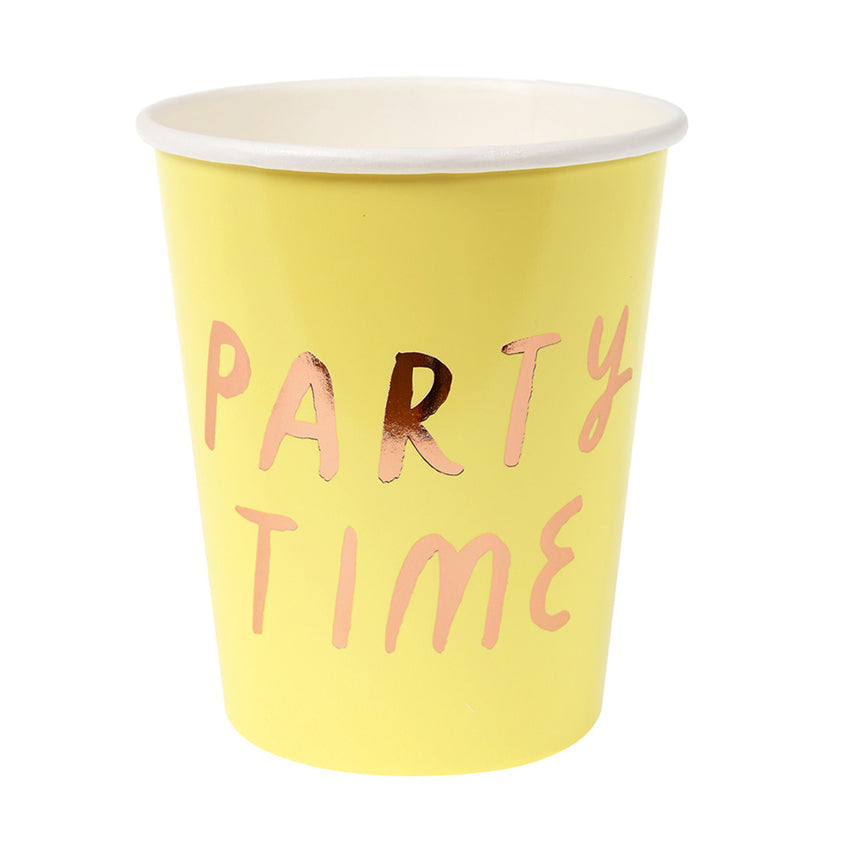 Small Typographic Pastel Party Cups