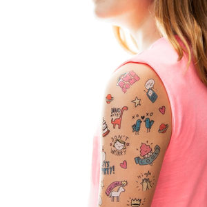 Tattly Party Pals Temporary Tattoos