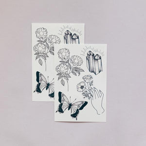 Tattly Earthly Gems Temporary Tattoos