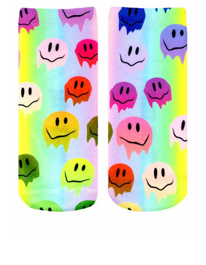 Melting Smiley Unisex Ankle Socks