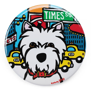 Marc Tetro Westie In Times Square Magnet
