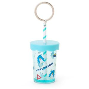Sanrio Keychain Holder: Plastic Cup with Straw: Tuxedo Sam