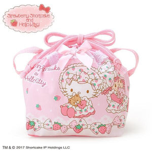 Sanrio Hello Kitty × Strawberry Shortcake Lunch Drawstring Bag