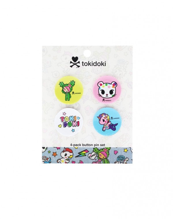 Denim Daze Character Pin Button Set Cactus dog tokidoki cactus friends sandy