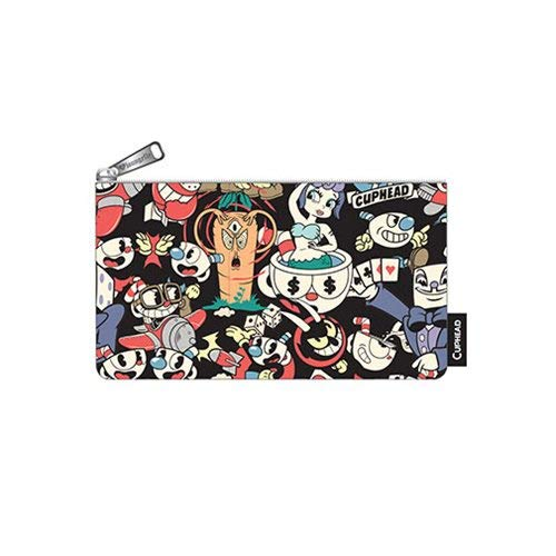 Loungefly x Cuphead Characters All Over Print Pencil Case